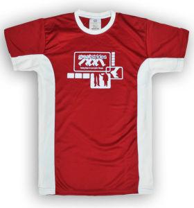 Contrast Color Lady Design Sports T-Shirt pictures & photos