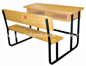 (GT-58) Wooden School Student Double Desk and Bench of Classroom Furniture pictures & photos