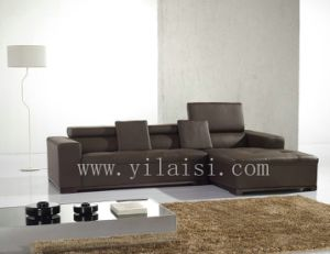 Corner Leather Sofa (T77)