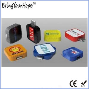 Swivel Square Retractable USB Flash Disk (XH-USB-149) pictures & photos