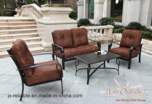 Latest Elegant Garden Chat Group Cast Aluminum Furniture pictures & photos
