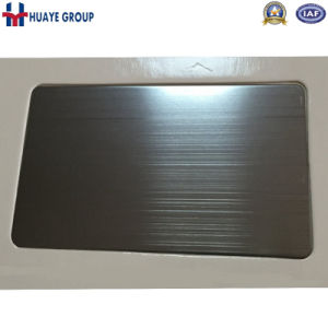 Grey Colored Stainless Steel Wall Pane PVD Plating pictures & photos