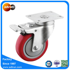 Medium Duty Total Lock Braked 4 Inch PU Swivel Casters pictures & photos