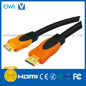 Multi-Color HDMI 19pin Plug-Mini HDMI Plug Cable pictures & photos