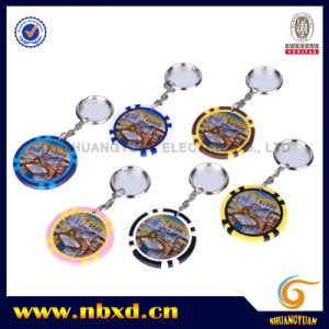 11.5g Eight Stripe Sticker Chip with Keychain (SY-D26-1) pictures & photos