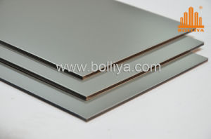 Silver Brush Brushed Mirror Hairline Aluminium Sign Sheet for Shopfront pictures & photos