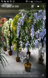 High Quality of Artificial Plants Natural Trunk with Flowers Westeria Gu-1453943364442 pictures & photos