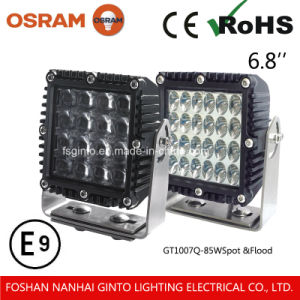 Square High Lumen Output 80W LED Working Light 6.8inch (1007Q) pictures & photos