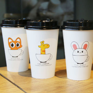 Take Away Coffee Paper Cups Disposable Custom Logo Single Wall Cups pictures & photos