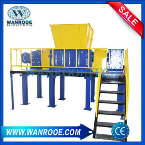 Mobile Tire/ Car Tire Recycling Double Shaft Shredding Machine pictures & photos