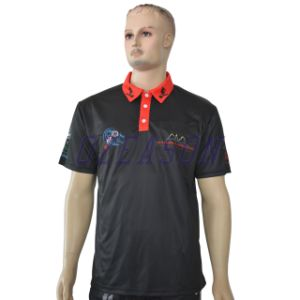 Wholesale High Quality Sublimated Dry Fit Men Golf Purple Polo Shirt pictures & photos