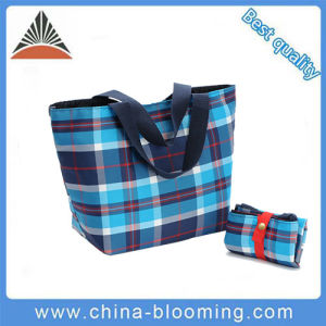 Ladies Promotion High Quality Polyester Reusable Shopping Foldable Tote Bag pictures & photos