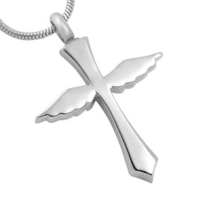 316L Stainless Steel Angel Cross Cremation Urn Pendant Necklace for Memorial pictures & photos