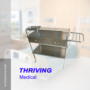 Stainless Steel Hospital Instrument Trolley (THR-MT014) pictures & photos