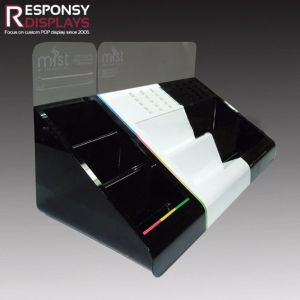 Black&White Acrylic Electronic Cigarette Products Display Racks pictures & photos