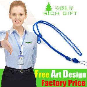 Promotional Gift Printing Logo Leather Neck Strap Bottle Koozie Lanyard pictures & photos