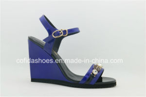 Fashion Sexy High Heels Wedge Lady Sandal pictures & photos