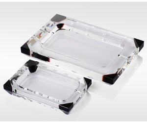 Rectange Crystal Glass Cigar Ashtray for Smoking pictures & photos