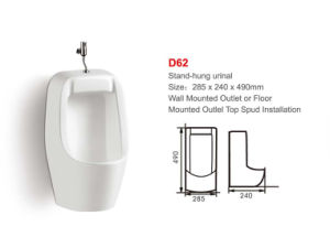 Ceramic Wall-Hung Urinal (No. D62) pictures & photos