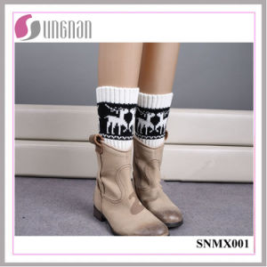 2015 Europe High Quality Multicolor Elk Leg Warmers Knitted Socks pictures & photos