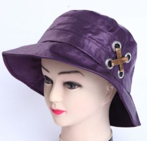 Custom Purple Big Hats Ladies pictures & photos