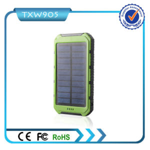 Dual USB Battery Charger External Backup Portable Solar Power Bank 10000mAh Power Bank for Cell Phone pictures & photos