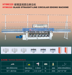 Glass Straight Line Circular Edging Machine (HYM6320) Tn31 pictures & photos