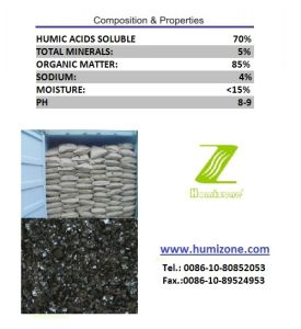 Humizone Hi-Humic Fertilizer: Sodium Humate Flake pictures & photos