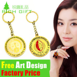 Promotional Plated Gold Blank Cutom Metal Trolley Coin Keychain pictures & photos