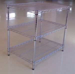 Adjustable Chrome Metal Exhibition Display Rack pictures & photos