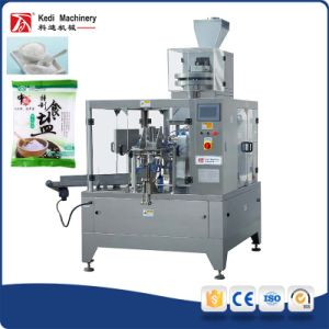 China Manufacturer Salt/Sea Crystal Rotary Packing Machine pictures & photos