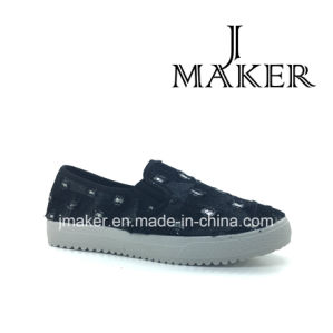2016 Hot Selling Casual Injection Shoes Lady Cloth Shoesjm2028-L pictures & photos