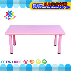 Pink Plastic Student Table for Kindergarten (XYH-0010) pictures & photos