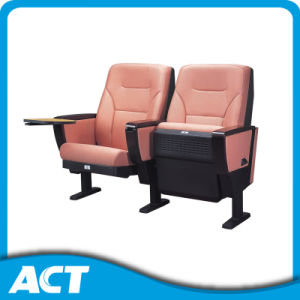 VIP Auditorium Chair / Soft Folding Chair / Theater Seating Fixed with Writing Plate and Book Net pictures & photos