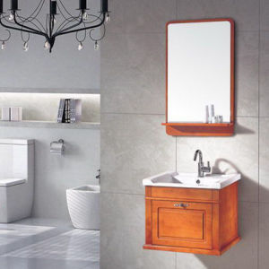 Solid Wood Bathroo Classical Bathroom Cabinet (ADS-644) pictures & photos