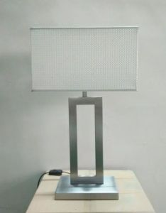 Modern Steel Table Lamp with Fabric Shade (WH-8802S) pictures & photos