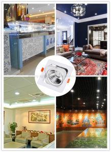 Square COB LED Ceiling Interior Lighting 15W Downlight Aluminium Frame Light Spotlight pictures & photos