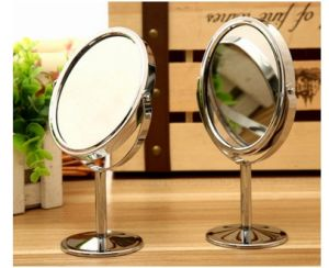 Promotion Metal Cosmetic Mirror, Glass Desktop Mirror 1: 2 Magnifying pictures & photos
