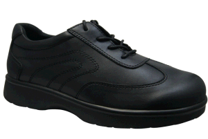Grace Health Shoes Leather Shoes for Diabetic Foot with Lace-up Design pictures & photos