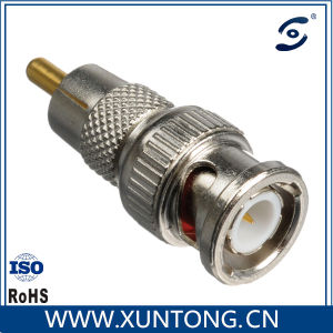 Nickel Plating Metal BNC Male to RCA Male Adapter Connector pictures & photos