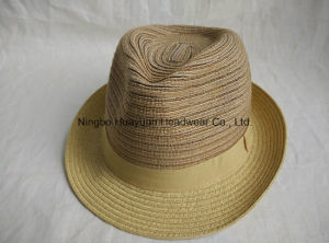 Sewn Braid Fefora Straw Hat