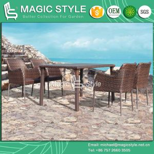 Italy Design Outdoor Dining Set Garden Furniture Patio Furniture Dining Chair Wicker Chair Dining Table Rattan Chair Coffee Chair (Magic Style) pictures & photos