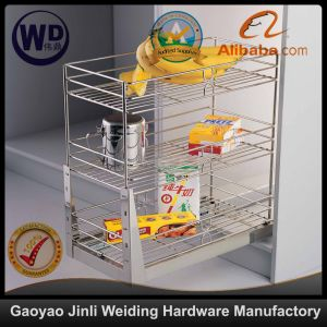 Pull Roll out Wire Larder Drawer Storage Basket B004b pictures & photos