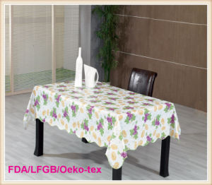 PVC Printed Tablecloth with Nonwoven for Wedding/Party pictures & photos