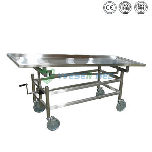 Yuesenmed Stainless Steel Mortuary Morgue Stretcher pictures & photos
