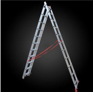 3 Section Multi-Purpose Telescopic Engineer Aluminum Ladder pictures & photos