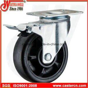 5 Inch Nylon Swivel Caster with Double Brake pictures & photos