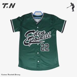 Custom Sublimation Printing Latest Baseball Jersey pictures & photos