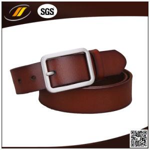 Alloy Pin Buckle 100%Real Leather Men′s Formal Belt (HJ1104)