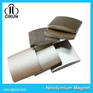 Customized Ni-Cu-Ni Plating Arc Shape Neodymium Motor Magnet pictures & photos